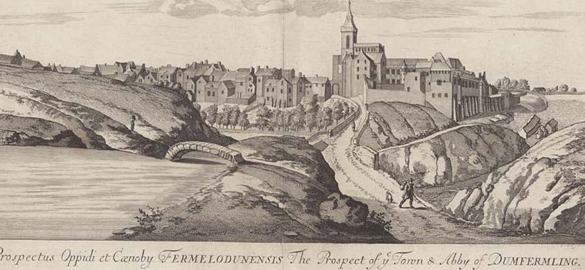 Dunfermline from John Slezer's Theatrum Scotiae