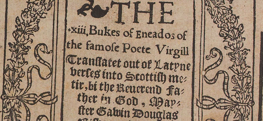 Title page o the Eneados imprentit in 1553