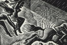 1934 Tam O'Shanter wood engraving by Douglas Percy Bliss