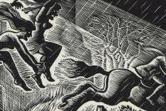 1934 Tam O'Shanter wood engraving by Douglas Percy Bliss