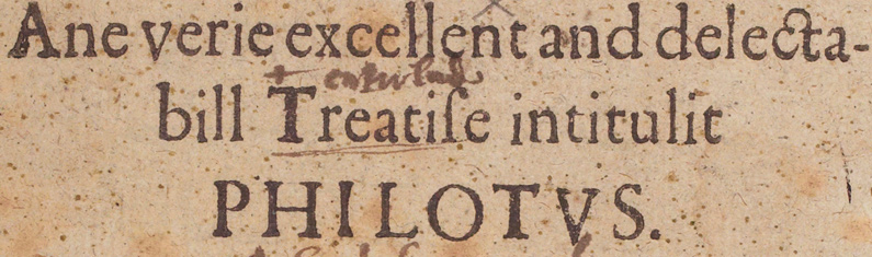 Philotus an The Assemblie: Twa Plays
