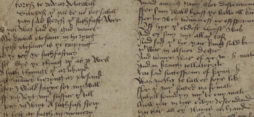 15th century manuscript of The Brus by John Barbour
